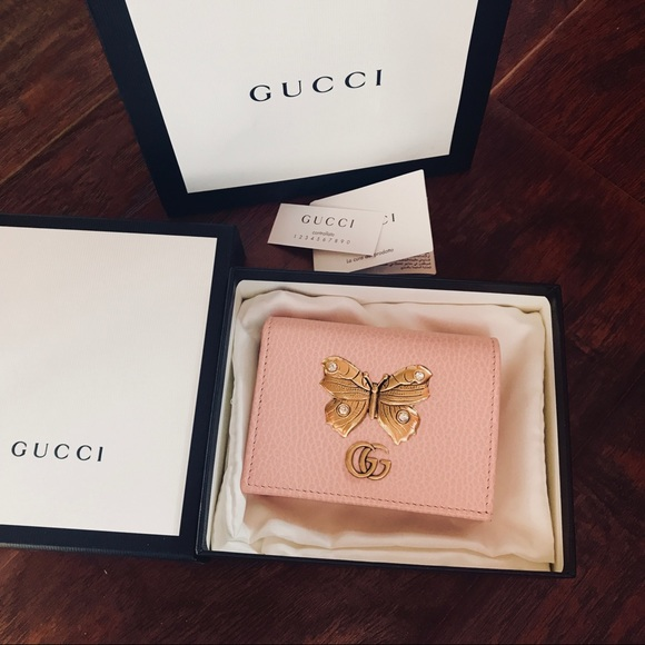 sports shoes 5d27a f87b8 Gucci Butterfly Wallet Card Case